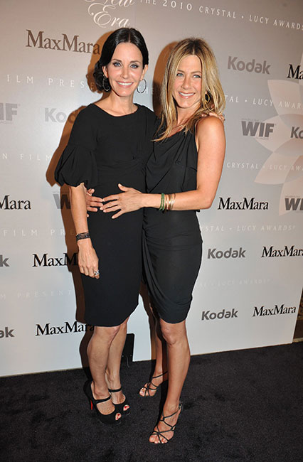 Courtney Cox and Jennifer Aniston in Max Mara