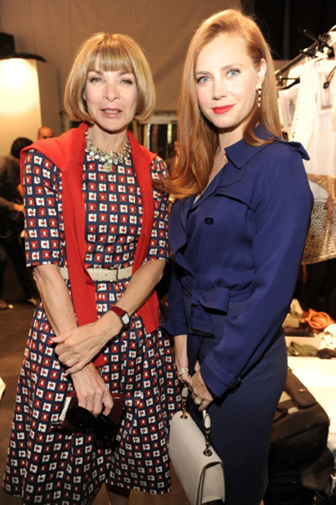 Amy Adams and Anna Wintour at the Max Mara Spring Summer 2015 Fashion show on 18th September at Milan Fashion Week