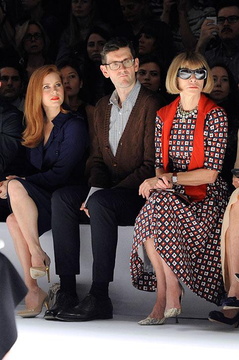 Prima fila alla Sfilata Max Mara Primavera Estate 2015 durante la settimana della moda a Milano, 18 settembre