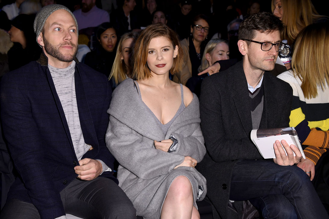 Kate Mara, recipient of the 2015 Women In Film Max Mara Face of the Future Award®, front row at the Max Mara Fall Winter 15-16 Fashion Show on 26th February 2015.