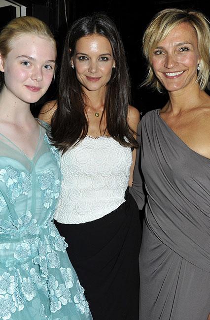 Katie Holmes Nicola Gerber Maramotti and Elle Fanning