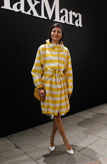 Giovanna Battaglia injects a ray of sunshine in Max Mara Summer look to our FW16 Runway Show