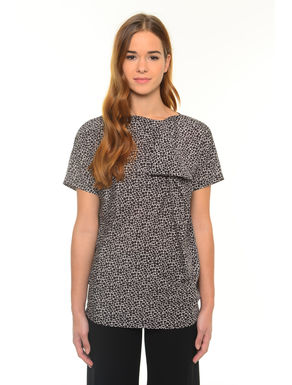 T-shirt con rouches