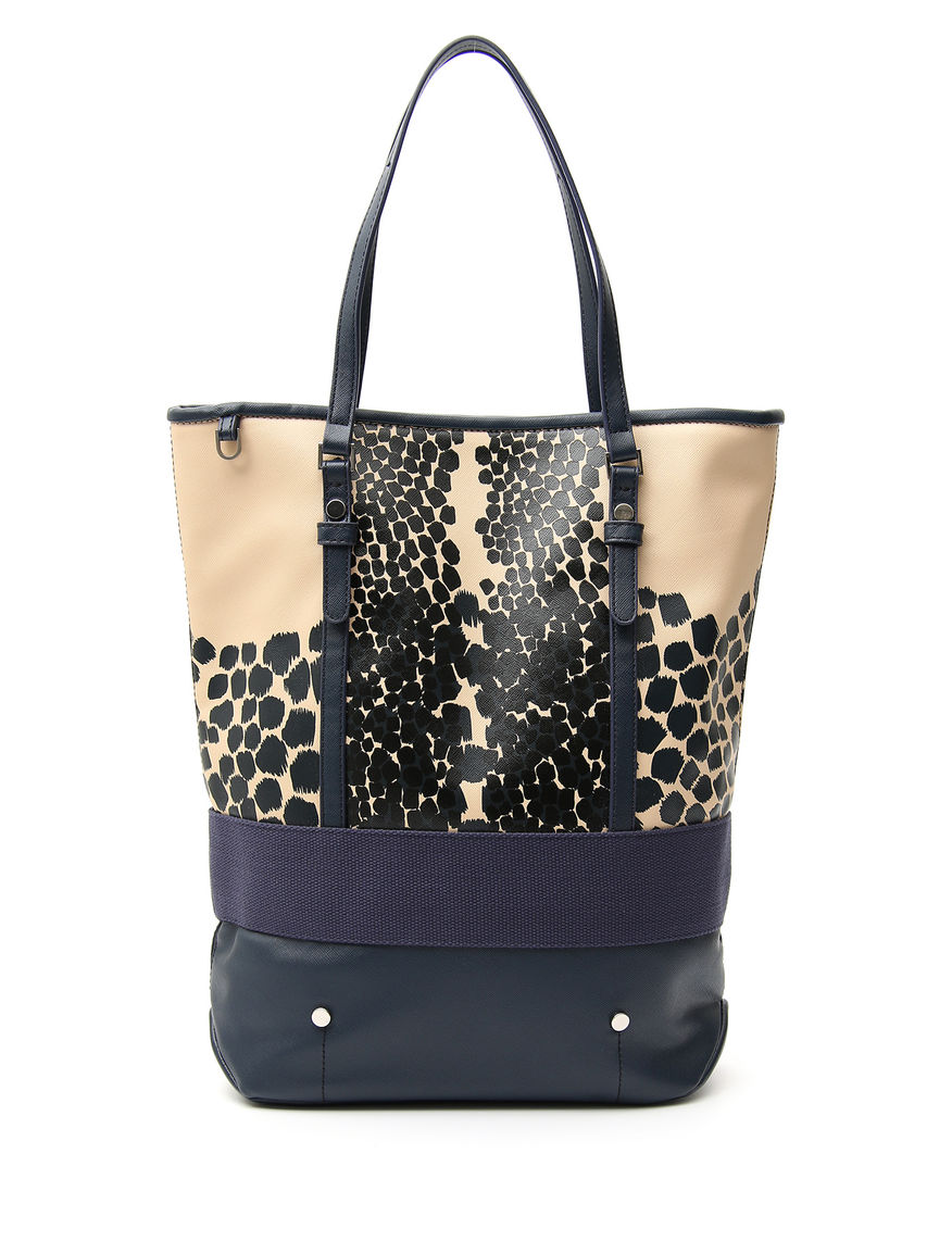 Shopping bag con stampa floreale