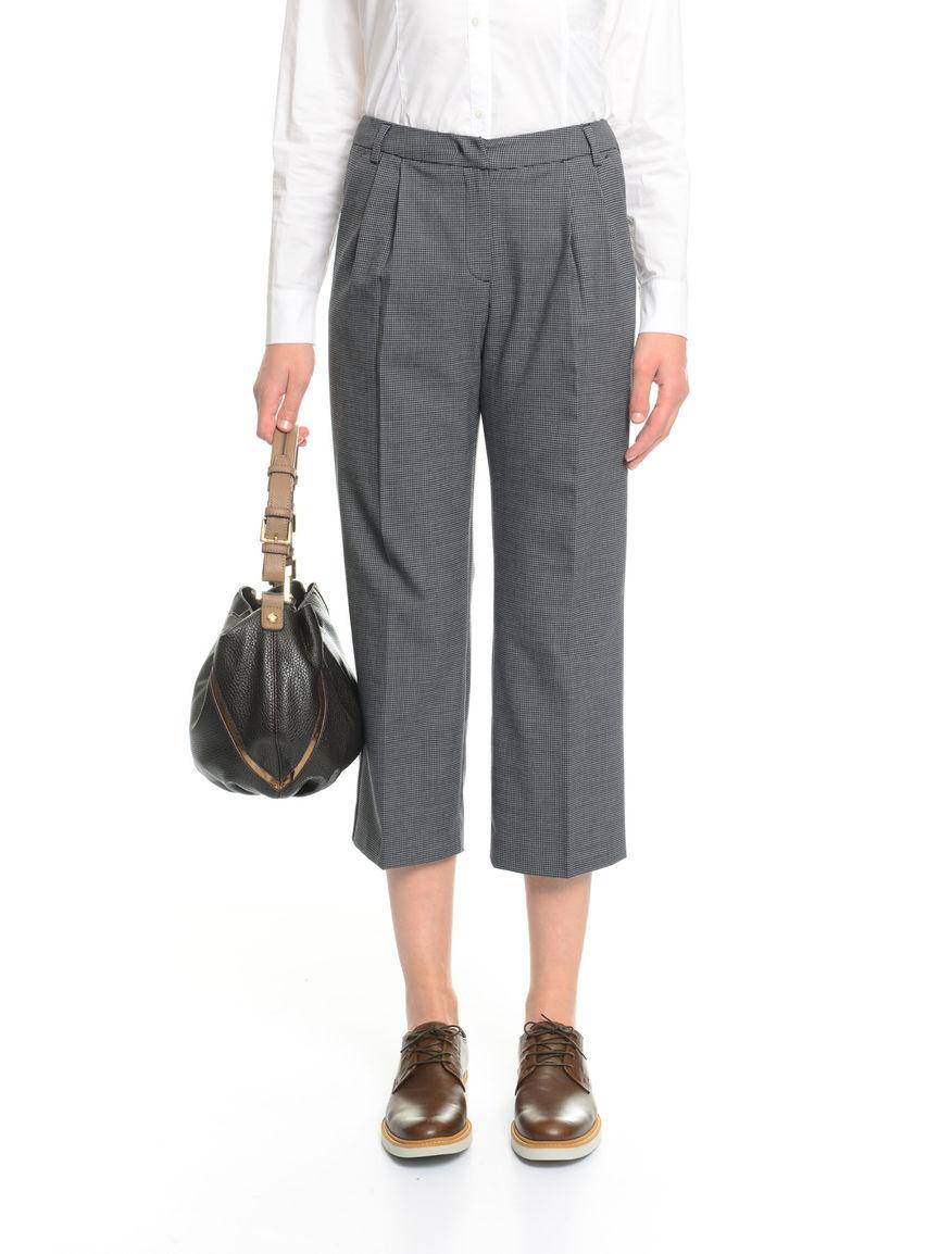 Pantaloni in pied de poule