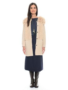 Cappotto in maglia effetto pelliccia