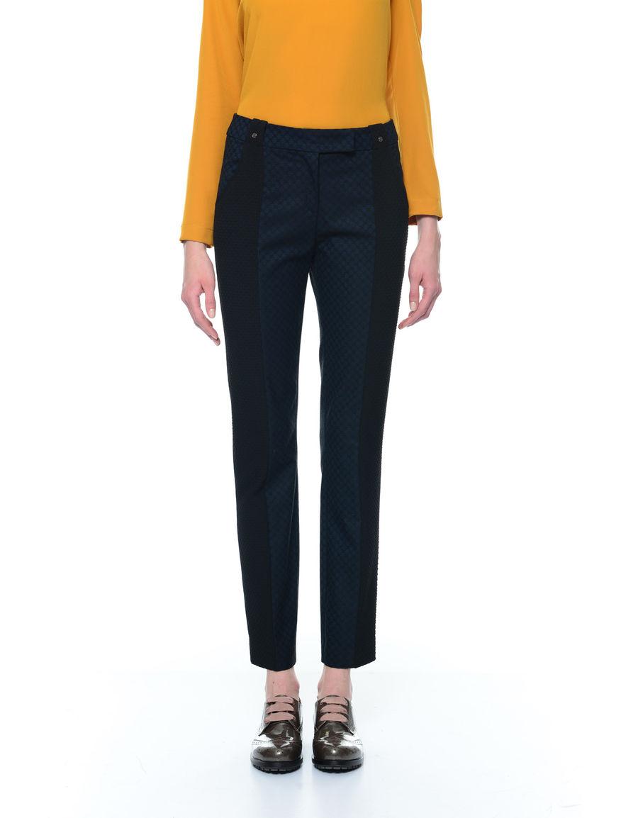 Pantaloni bimateriale
