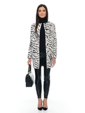 Cappotto in cavallino zebrato