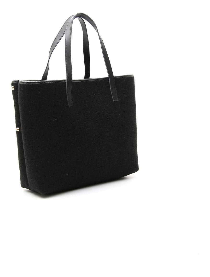 Shopping bag con borchie