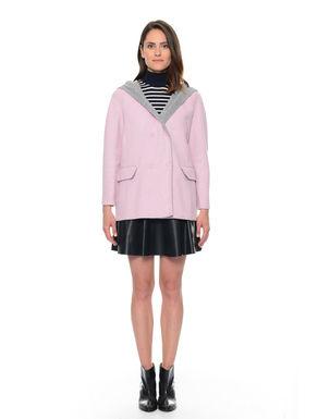 Cappotto in lana con cappuccio