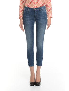 Pantaloni in denim con zip