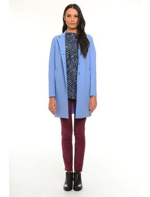 Cappotto in lana con revers