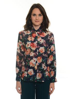 Camicia in seta a fiori