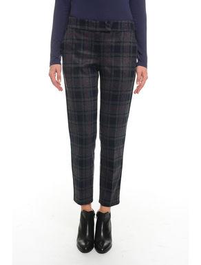 Pantaloni in flanella check