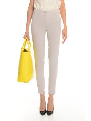 Pantaloni slim in cady