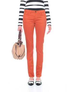 Pantaloni skinny in raso