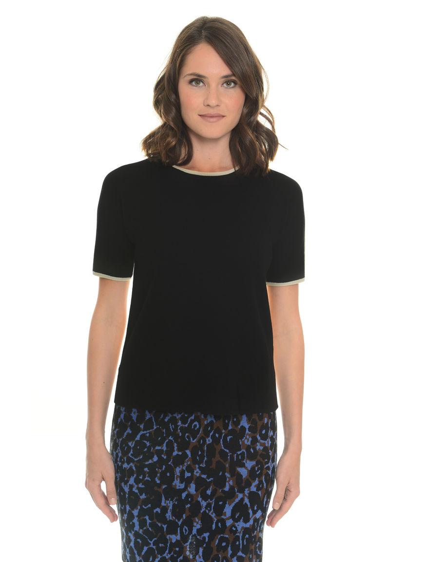 T-shirt in maglia misto seta