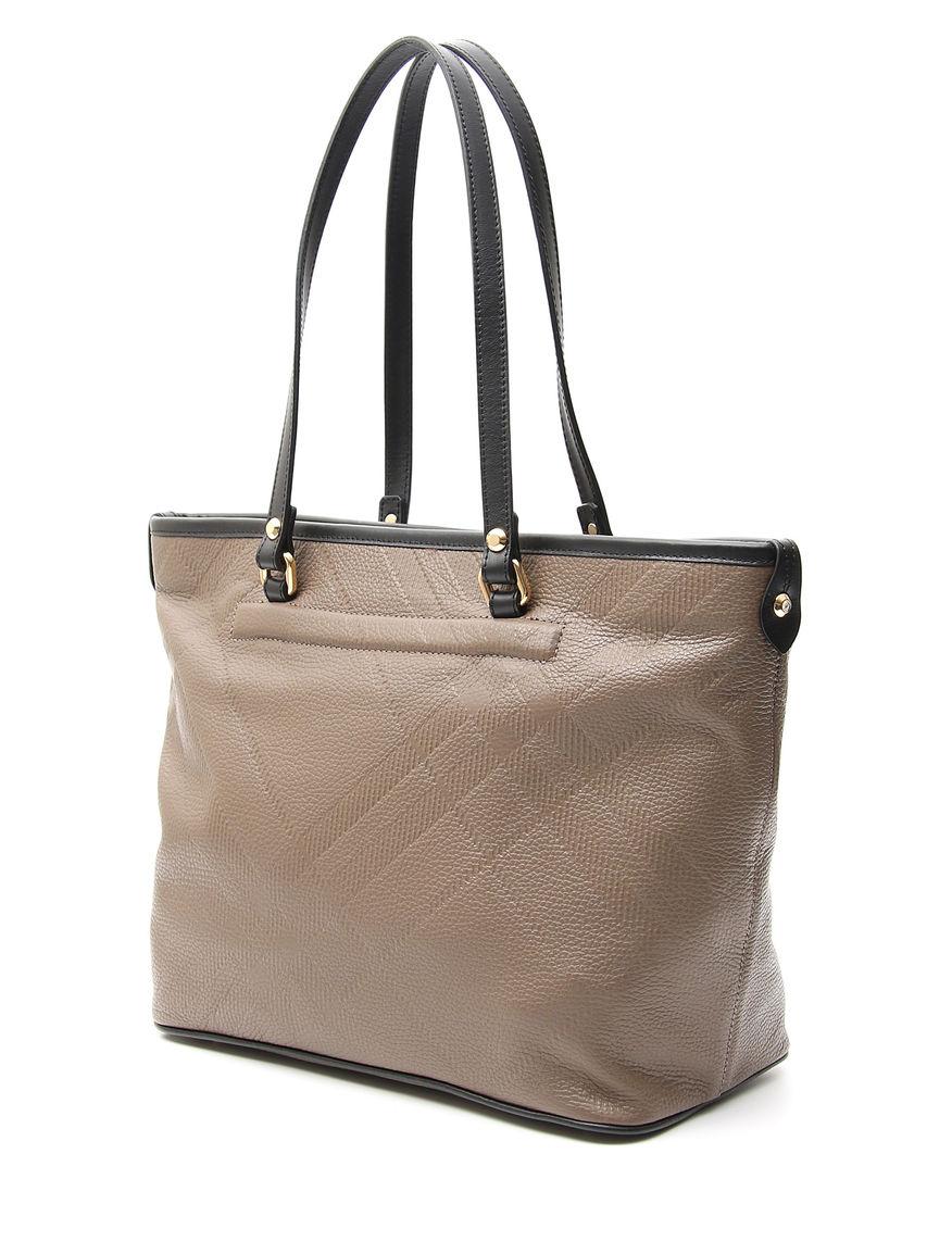 Shopping bag manici a contrasto