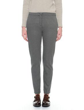 Pantalone in jersey jacquard
