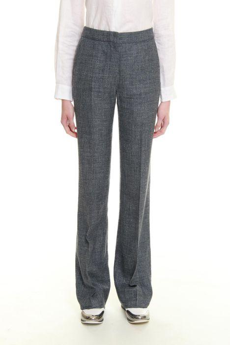 Pantaloni in seta e lino