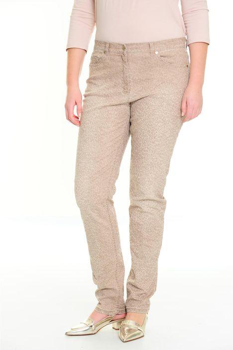 Pantaloni in denim stampati