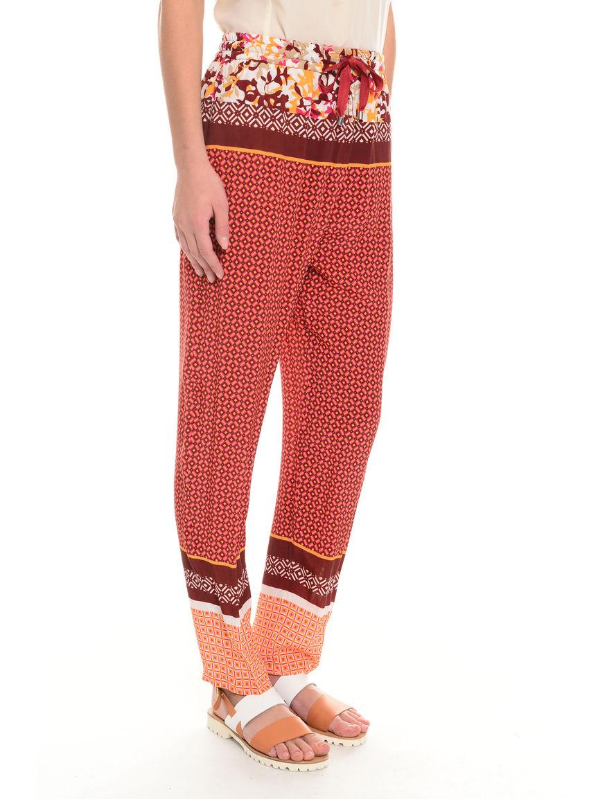 Pantaloni in cupro e viscosa