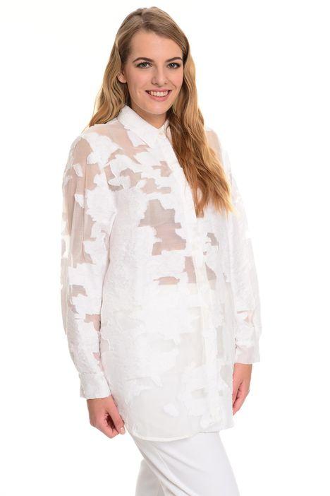 Camicia in organza jacquard