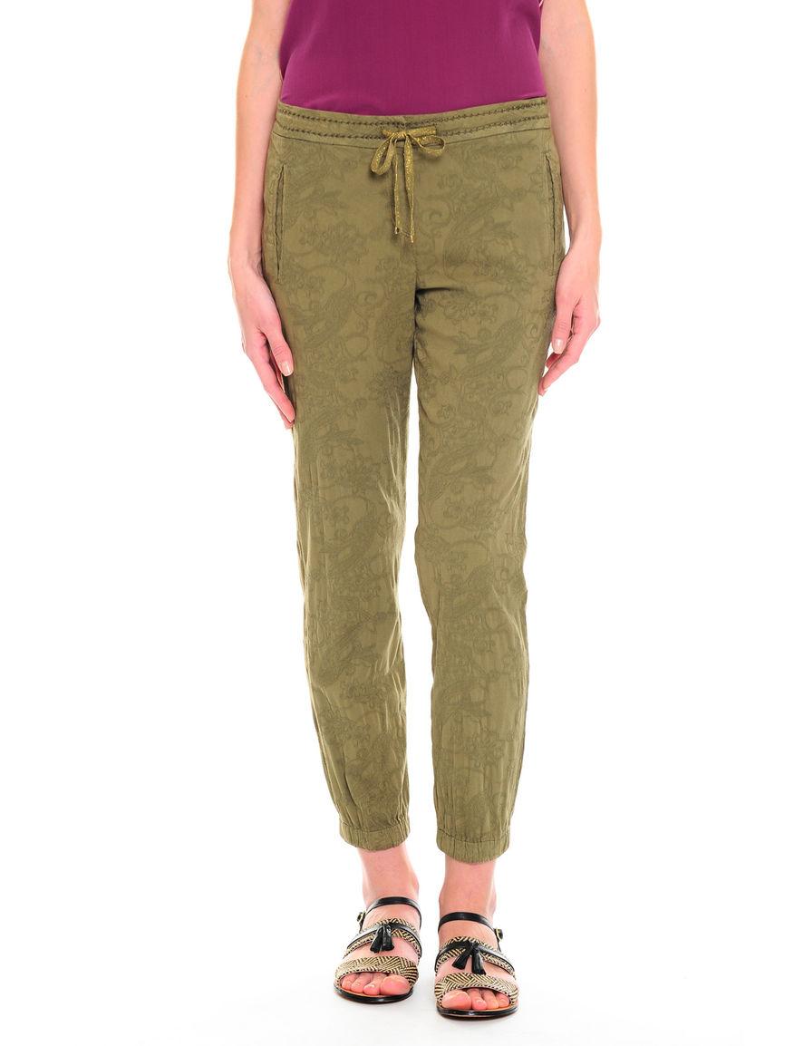 Pantaloni con ricamo