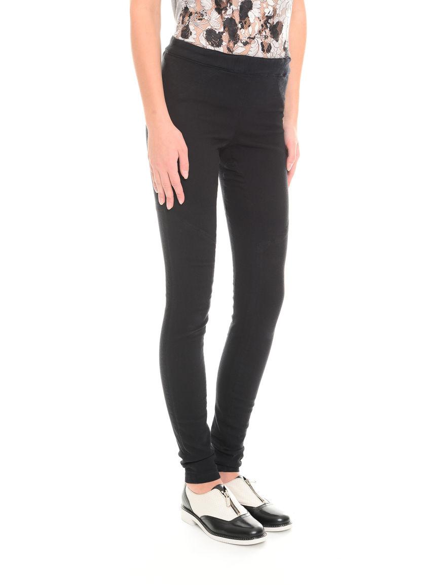 Pantaloni slim in cotone