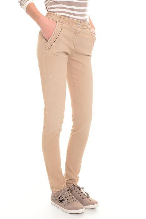 Pantaloni aderenti in drill