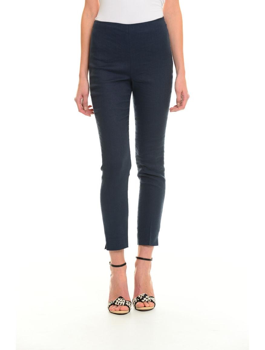 Pantaloni aderenti in lino