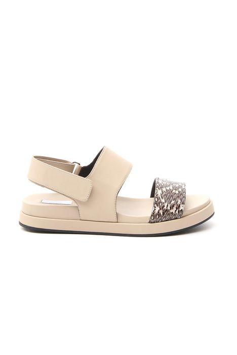 Sandalo con fascia animalier