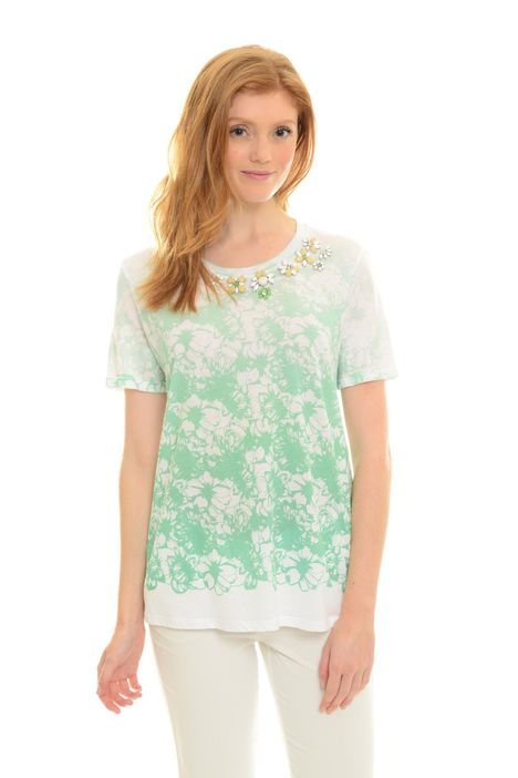 T-shirt con stampa floreale