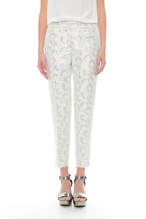 Pantaloni jacquard lurex