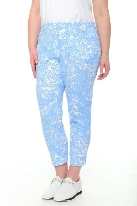 Pantaloni in piquet fantasia