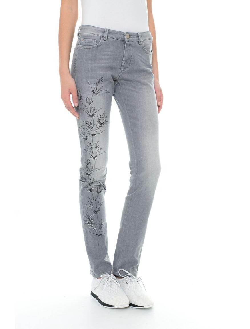 Pantaloni in denim con stampa