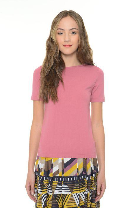 T-shirt in maglia di viscosa