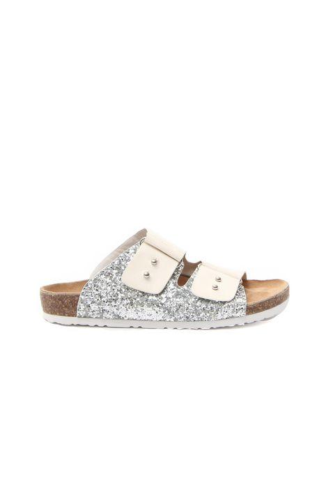 Sandali in pelle e glitter