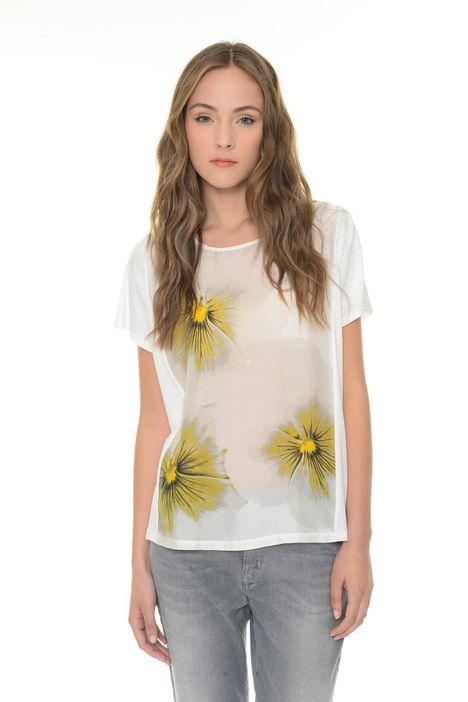 T-shirt in seta fantasia