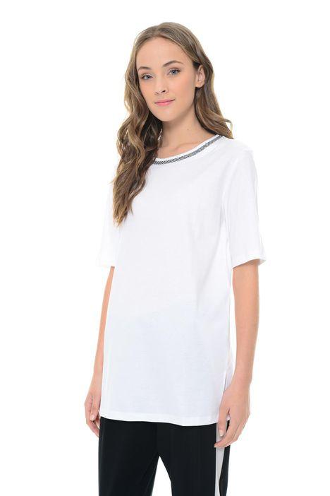 T-shirt in cotone e lino