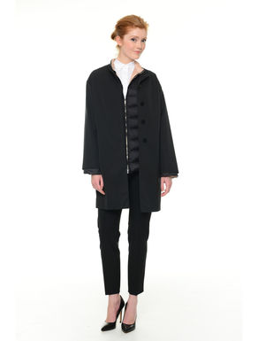 Cappotto in faille con piumino