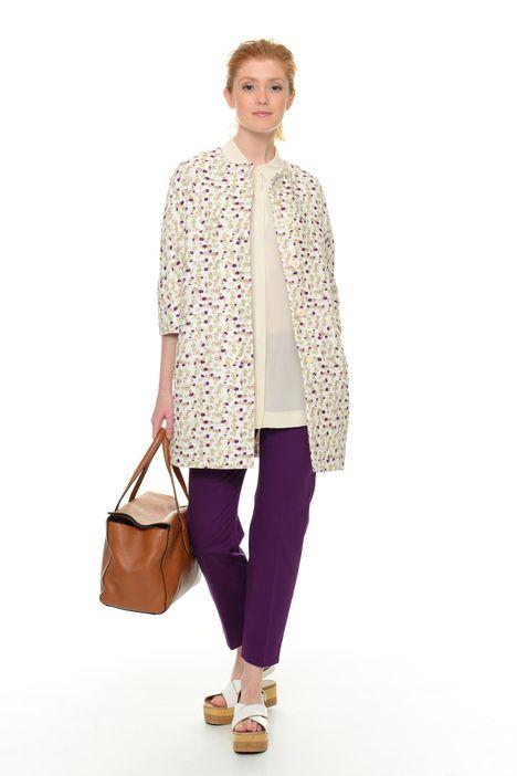 Cappotto in cotone e lino