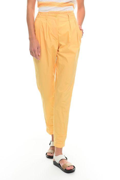 Pantaloni carrot in cotone