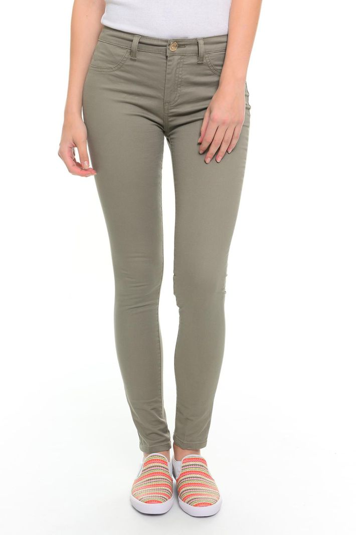 Pantaloni in gabardina stretch