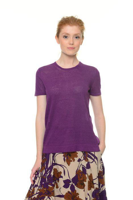 T-shirt in lino e seta