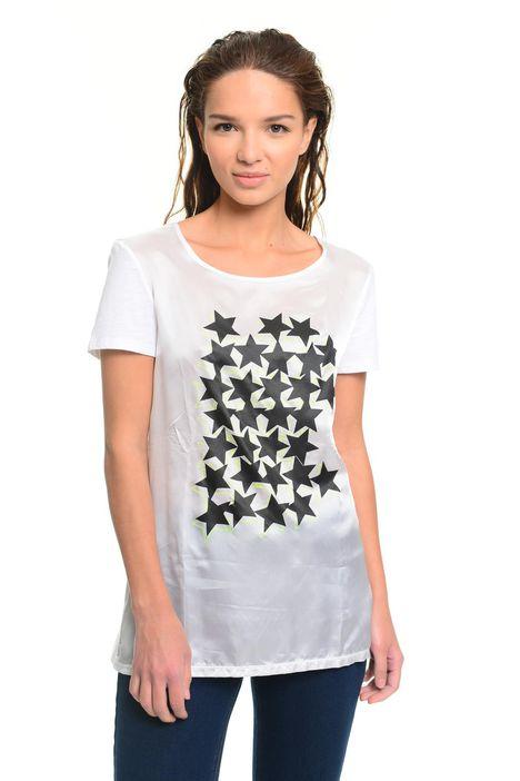 T-shirt in cotone e cupro