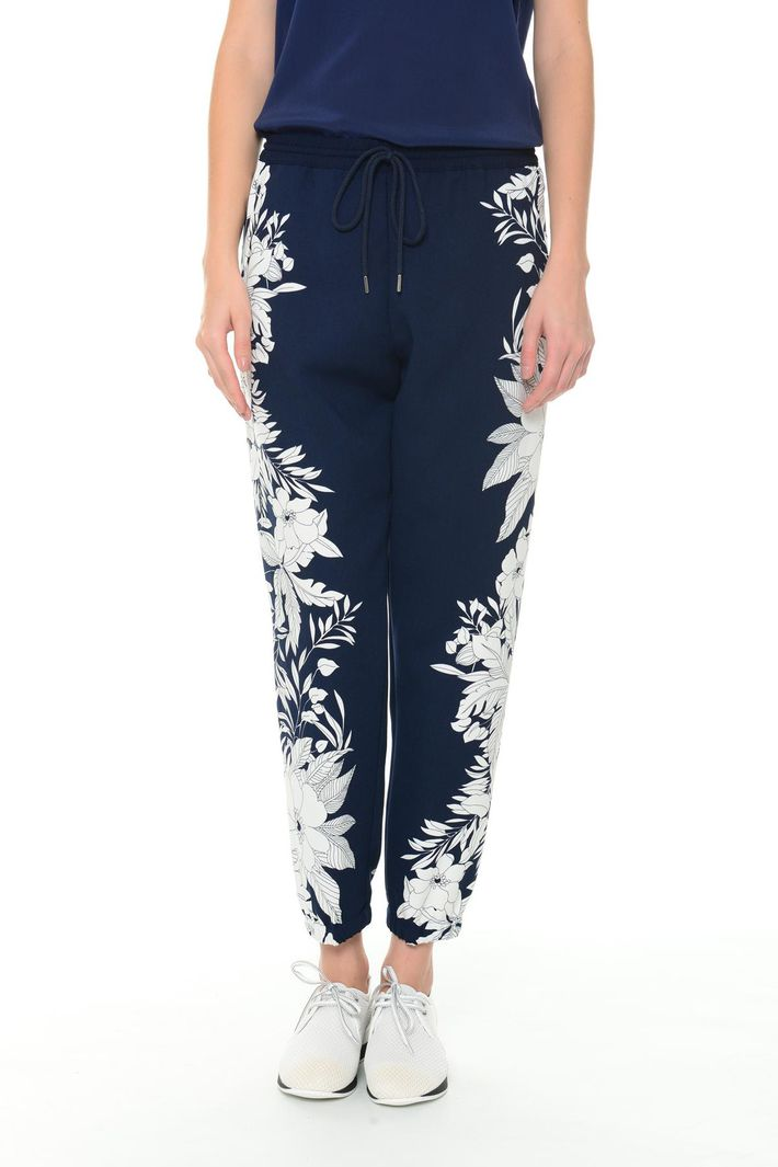 Pantaloni in cady stampato