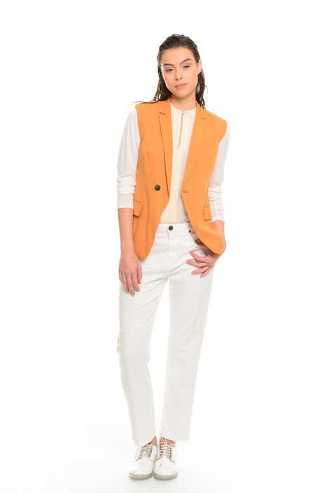 Gilet in cupro