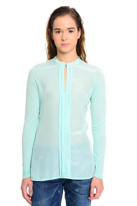T-shirt in viscosa e seta