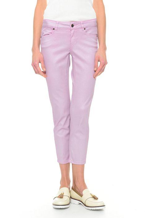 Pantaloni in cotone spalmato